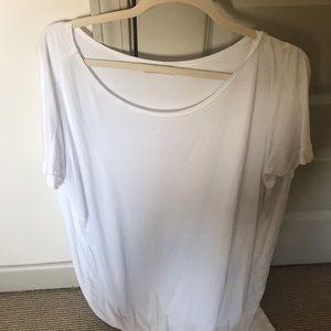 White piko dress